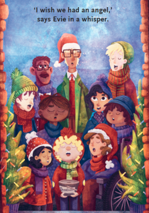 Carol singers from Evie's Christmas Wishes